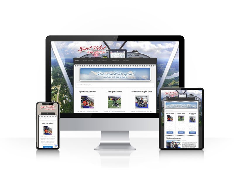 Sport Pilot Aviation - Responsive Website