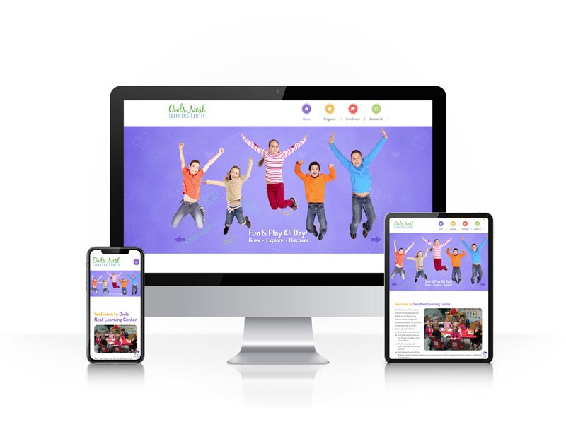 Responsive website design - Owls Nest Learning