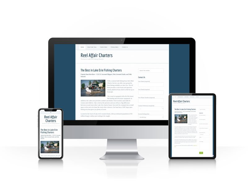 Reel Affair Charters responsive website