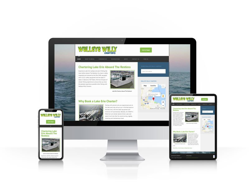 Walleye Willy Charters responsive web design