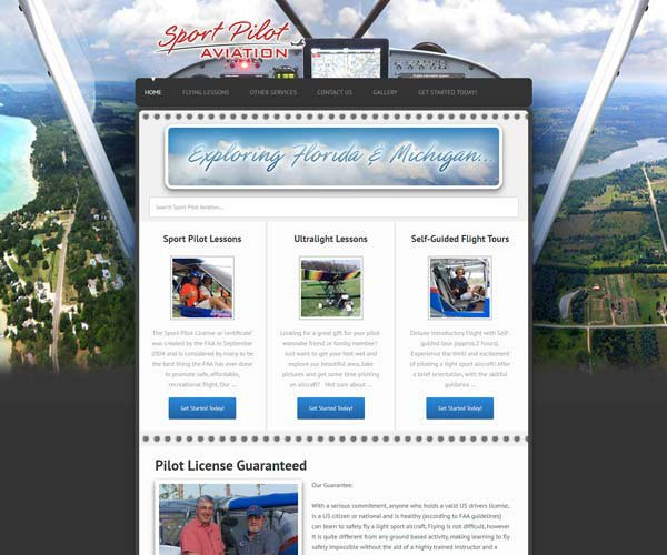 Aviation Website Design